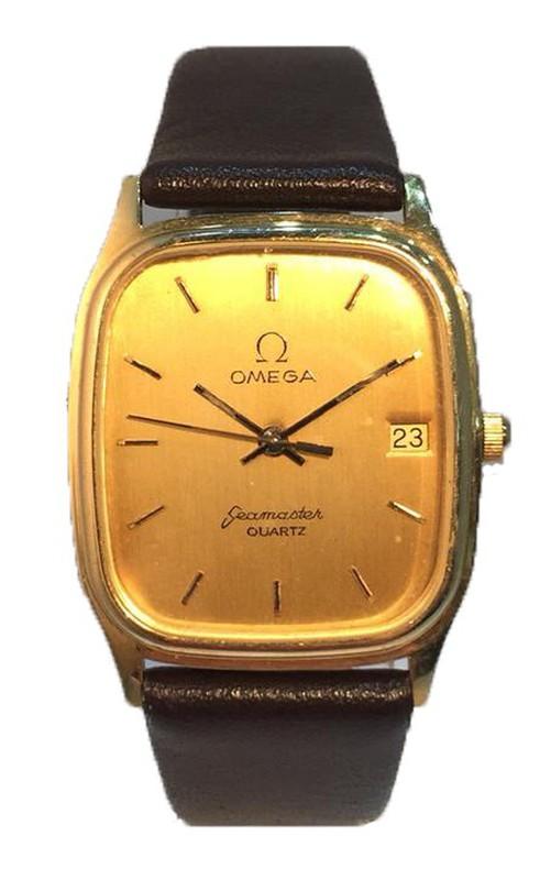 Reloj Omega Hombre Oro 18kts Seamaster Piel Marrón 1090 Seminuevo